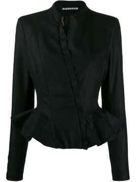 Aganovich slim-fit peplum jacket - Black