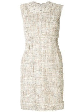 Giambattista Valli bouclé-tweed shift dress - NEUTRALS
