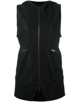 Lost & Found Ria Dunn sleeveless perforated jacket - Black