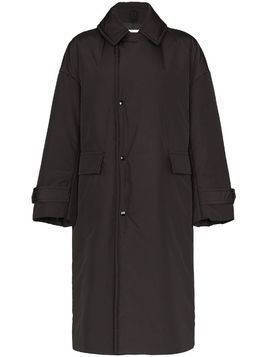 Hyke oversized collared coat - Black