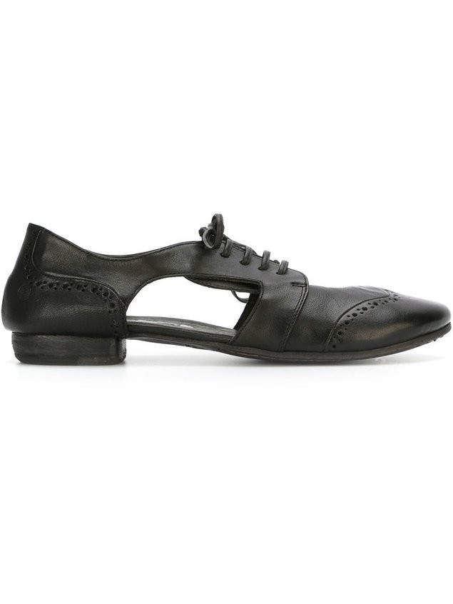 Marsèll distressed cut-out brogues - Black