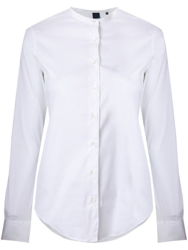 Aspesi collarless shirt - White