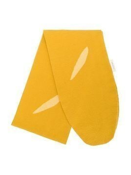 Tiny Cottons baguette knitted scarf - Yellow & Orange