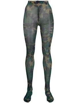 Richard Quinn camouflage pattern tights - Blue