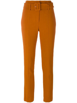 Theory cigarette belted trousers - Yellow & Orange