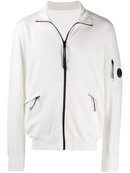 CP Company lens detail zip-up jacket - White