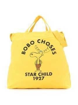 Bobo Choses star child tote bag - Yellow