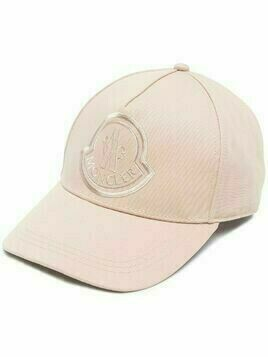 Moncler logo embroidered baseball cap - PINK