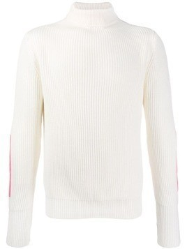 Lc23 roll neck knitted jumper - White