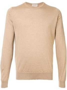 John Smedley long-sleeve fitted sweater - Brown