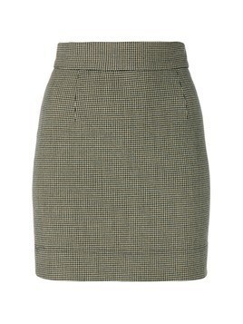 Moschino Vintage houndstooth mini skirt - Nude&Neutrals