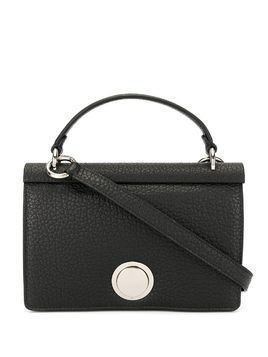 Giambattista Valli pebbled leather foldover top tote - Black
