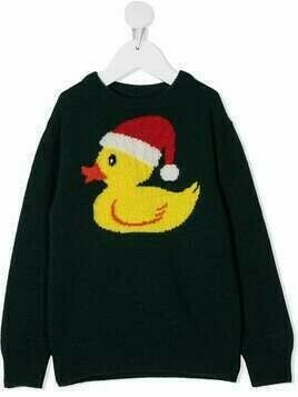 Mc2 Saint Barth Kids Christmas ducky jumper - Green