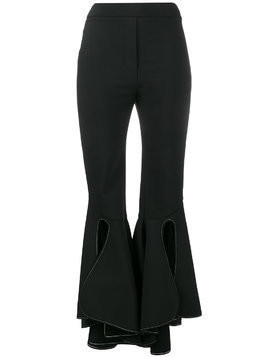 Ellery high waisted fitted flared trousers - Black
