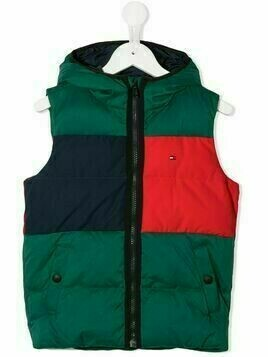 Tommy Hilfiger Junior colour block padded waistcoat - Green