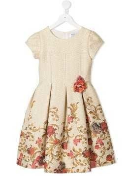 Lesy floral day dress - Gold