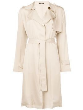 Theory belted midi trench coat - Nude & Neutrals
