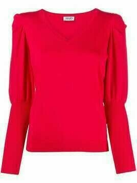 LIU JO long-sleeve knitted top - Red