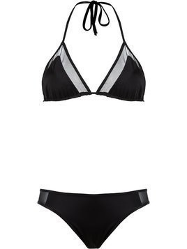 Brigitte triangle bikini set - Black