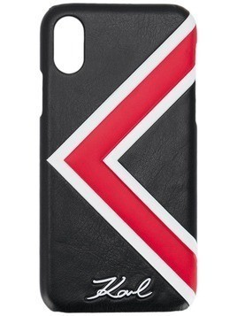 Karl Lagerfeld Karl Stripes - Iphone X case - Black