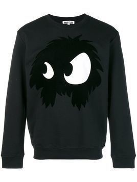 McQ Alexander McQueen Mad-Chester print sweater - Black