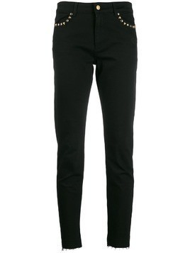 Escada Sport distressed-hem skinny jeans - Black