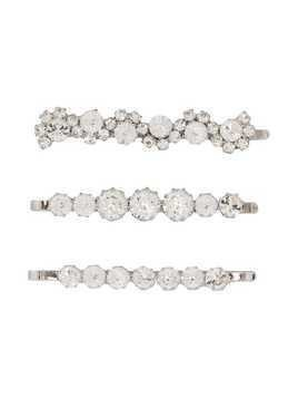 Alessandra Rich set of three embellished hair slides - Silver