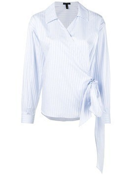 Escada striped wrap blouse - Blue