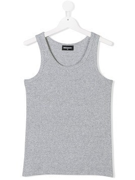 Dsquared2 Kids TEEN ribbed tank top - Grey