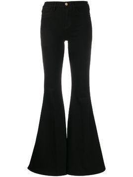 Frame high waisted wide flare jeans - Black