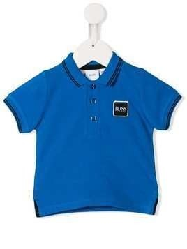 Boss Kids embroidered logo polo shirt - Blue