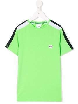 Boss Kids crew neck mesh panel T-shirt - Green