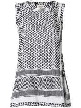 Cecilie Copenhagen patterned sleeveless tank top - Black