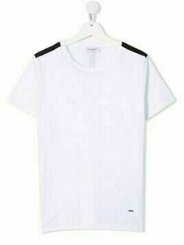 Paolo Pecora Kids TEEN centre-stripe T-shirt - White