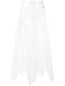 Ssheena sheer pleated skirt - White