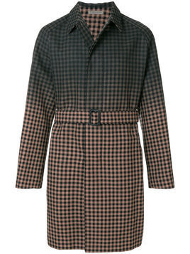Bottega Veneta - faded check trench coat - Herren - Cotton/Wool/Cupro/Lamb Skin - 52 - Black