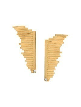 Charlotte Valkeniers Large Flare stud earrings - Gold