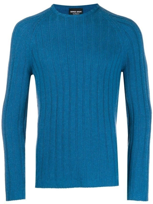 Giorgio Armani ribbed sweater - Blue