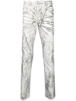 Fagassent coated skinny jeans - White