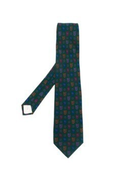 Yves Saint Laurent Pre-Owned printed tie - Green