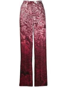 F.R.S For Restless Sleepers patterned straight-leg trousers - Red