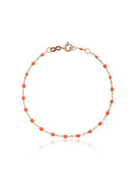 Gigi Clozeau orange RG bead rose gold bracelet - Yellow