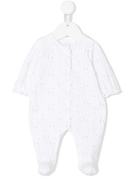 Knot Love flower babygrow - White