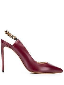 Francesco Russo slingback stiletto pumps - Red