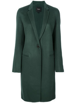 Theory double-faced essential coat - Green