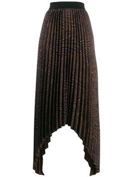 By Malene Birger pleated asymmetric skirt - Brown