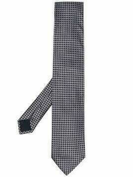 Corneliani geometric-embroidered silk tie - Blue