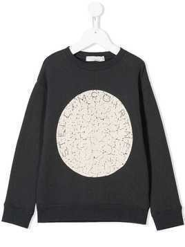 Stella McCartney Kids distressed logo sweatshirt - Grey