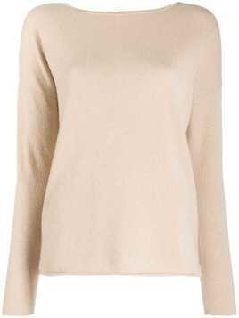 Allude cashmere knit jumper - Brown