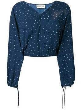 Essentiel Antwerp polka dot print blouse - Blue